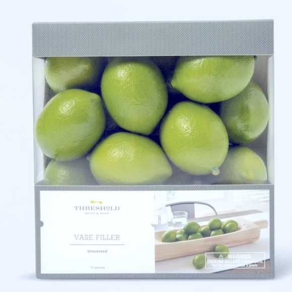 New-17pc unscented lime vase filler -Threshold